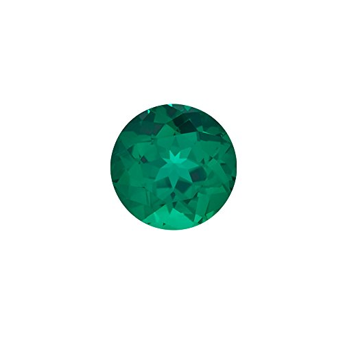 Mysticdrop 0.52-0.57 Cts of 5.50x5.50 mm AAA Round Russian Lab Created Emerald (1 pc) Loose Gemstone