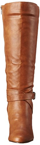 Bella Vita Womens Tanner II Harness Boot Camel Faux Leather
