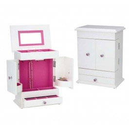 Reed & Barton Bella Jewelry Box, White