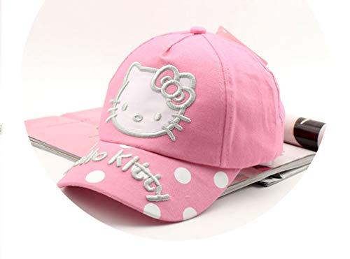 春ベビーのヒップホップの帽子 刺繍 ハローキティ 野球のキャップ 子供の帽子