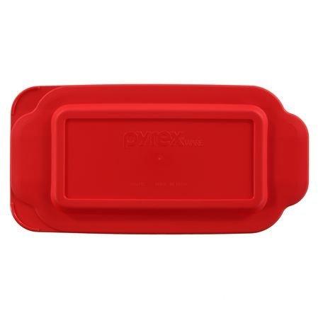 Pyrex - Red 1.5 Quart Loaf Dish Lid (Loaf Pyrex)