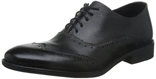 Bed | Stu Heren George Oxford Shoe Black Garment Dye