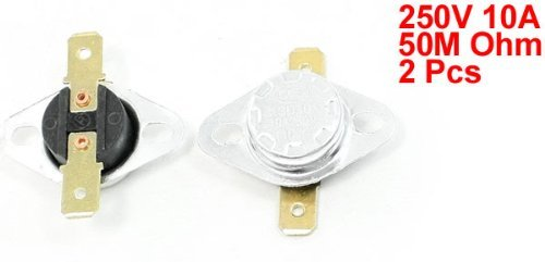 2 Pcs 250V 10A 110 Celsius 230F Temperatura Controlada Interruptor KSD301 - - Amazon.com