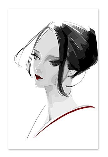 Superlucky Superlucky Superlucky Fashion Lady DIY digitales Ölgemälde durch Zahlen Zeichnung handgemaltes Bild Wall Decor Bilder 40x60cm mit Rahmen B07K5FSQBY   Online einkaufen  4fe768