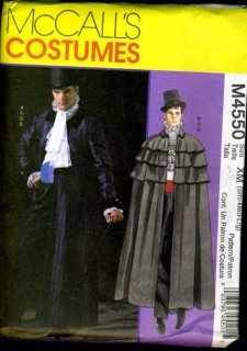 Mccall's Costumes Sewing Pattern M4550 SZ: XN DR. JEYKLL/MR. HYDE -