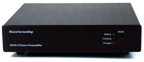 Musical Surroundings Nova II battery-powered dual-mono MM/MC Phono Preamp (Black) by Musical Surroundings