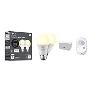 C by GE Smart Home Bundle Pack - 2 Smart LED Bulbs, Smart Plug, and Motion Sensor (2 LED A19 Soft White Bulbs + Smart Plug That Works with Alexa + Wire-Free Motion Sensor), Bluetooth Light Bulbs