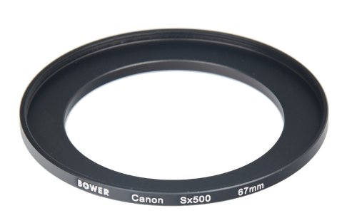 Bower ACSX500 Canon SX500 67 mm Adapter Tube (Black) from Bower
