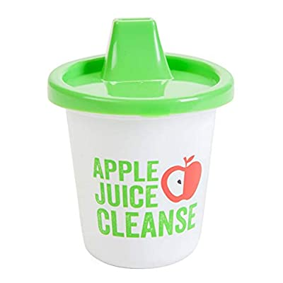 Apple Juice Cleanse 7oz Funny Novelty Sippy Cups CEO Apple Cleanse Red Solo or Namaste 3m+ - by GrandSlamm: Toys & Games
