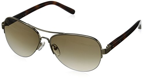 Bobbi Brown Women's The Angelina Aviator Sunglasses, Gold & Brown Gradient, 57 - Brown Bobbi Sunglasses