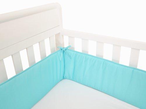 crib bumper aqua - 3