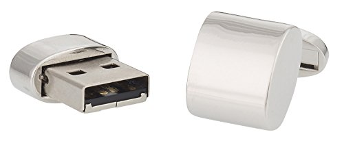 Working-Silver-USB-Flash-Drive-Cufflinks-32GB-Total-with-Presentation-Box