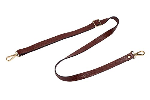 Leather Adjustable Replacement Crossbody Strap, 26-51 inch Long (Width 0.47inch,Coffee) ()