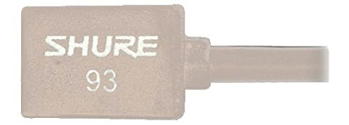 shure-wl93-t-series-subminiature-condenser-lavalier-microphones-wl93t-tan-with-4-foot-12-m-cable