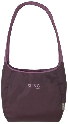 ChicoBag Sling rePETe Recyled Content Compactable Reusable Shopping Tote/Grocery Bag (Merlot)