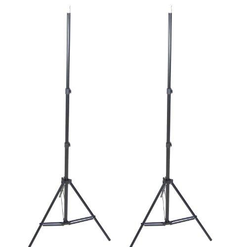 DynaSun 11011 2xW803 220 cm (86,6 Zoll) Profi Qualität Lampenstativ für Blitze/Lampen mit Tasche