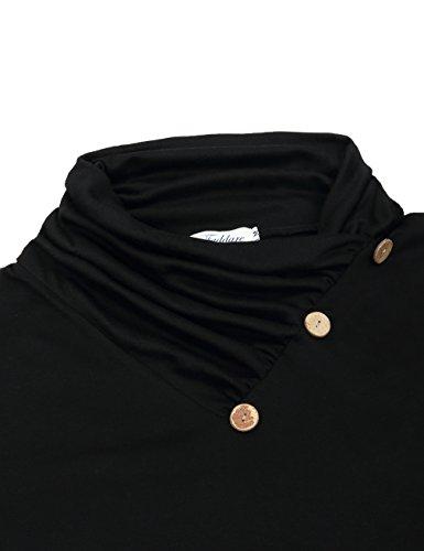 Faddare lunghe Black Camicia donna Maniche 7UqArHw7