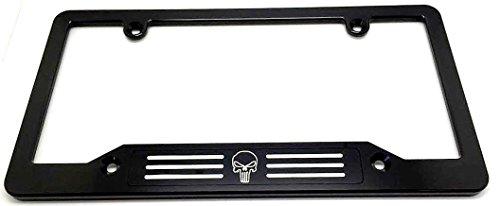 Billet Badge (PUNISHER BILLET ALUMINUM LICENSE PLATE FRAME, BLACK, BLACK BADGE)