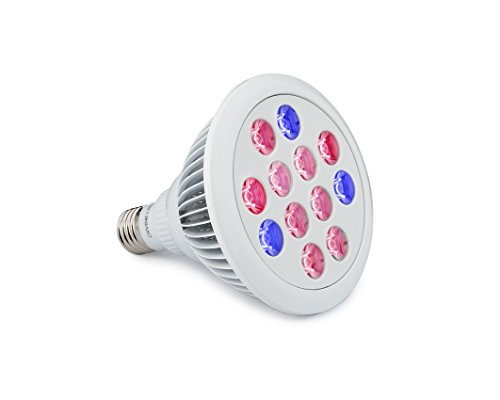 VONT Grow Light Bulb - Perfect Grow Lights for Indoor & Outdoor Plants - Suitable for Hydroponic Garden Greenhouses - VONT Growing Light - 12W E27 - 12 LEDS (3 Blue & 9 Red) - VONT by VONT