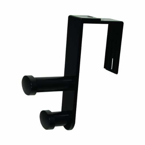 Advantus Over-The-Panel Plastic Double Hook, Fits Over 1-3/16 to 4-1/16 Inch Panels, Black (40802) ()