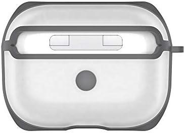 Funda para AirPods Caso AirPod Cubierta Pieles, For APC001 AirPods Pro Caja de la PC + TPU Transparente for Auriculares de protección con el Gancho, AirPods de Silicona a Prueba de Agua: