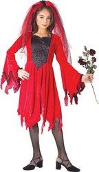 Child Red Devil Bride Costume - Small
