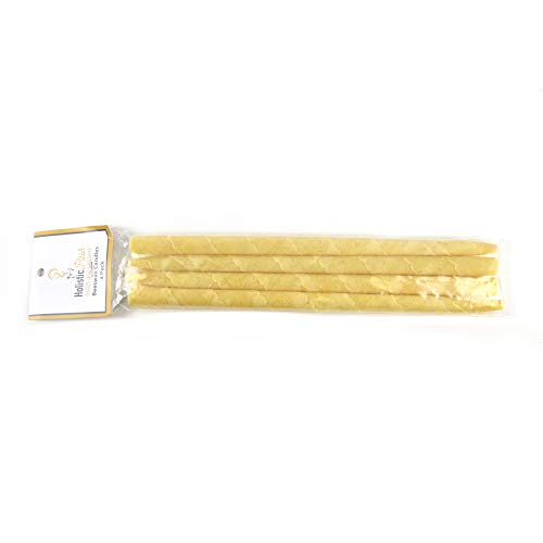 Cylinder Incense Candles, Natural Beeswax, 4 Pack