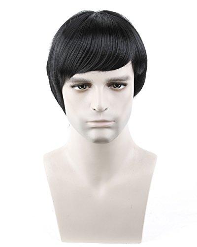 Dreamworld Fashion Men's Short Layered Wig (Model: Jf010471) (Black)