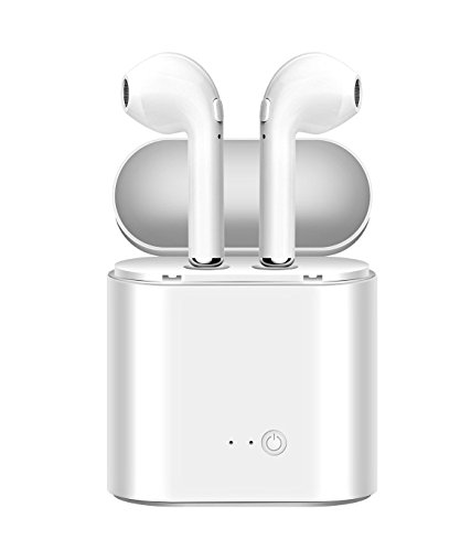 True Wireless Headphones, Bluetooth Earbuds Stereo Earphone Cordless Hand-free Headsets for Apple AirPods iPhone 8, 8 plus, X, 7, 7 plus, 6s, 6S Plus with Charging Case