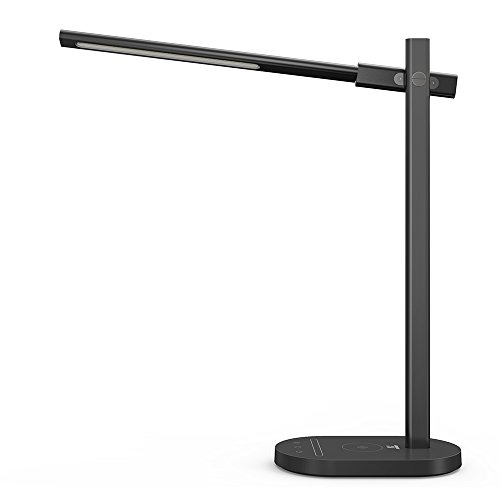 TaoTronics LED Desk Lamp with Wireless Charging Pad, Premium Metal...