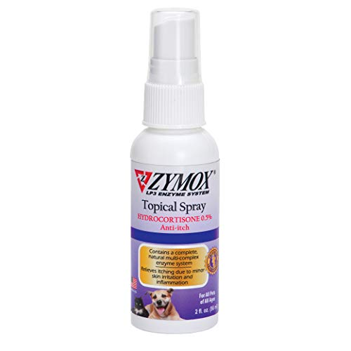 Zymox Topical Hot Spot Spray for Dogs and Cats with .5% Hydrocortisone, 2oz