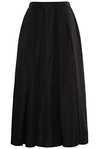 Ulla Popken Women's Plus Size Two Tone Taffeta Maxi Skirt Black 18 719686 -