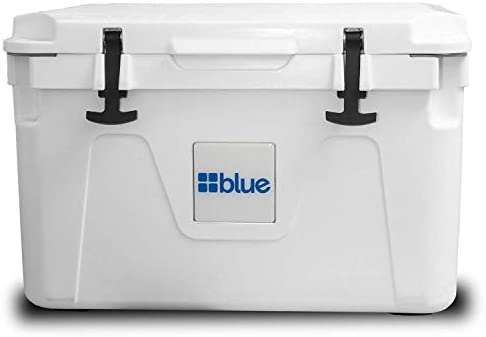Blue Coolers 50 Liter Ice Vault Rotomolded Cooler, White