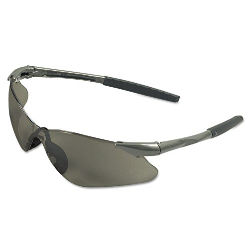 Jackson Safety 25704 V30 Nemesis VL Eyewear, Smoke Polycarbonate Anti-Scratch Lenses, Gunmetal Frame