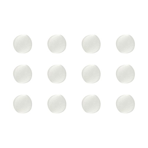 ButtonMode BU163DIV Fabric Covered Satin Trim Buttons, Fabric Shank Back, Ivory Color, 10mm 12-Pack