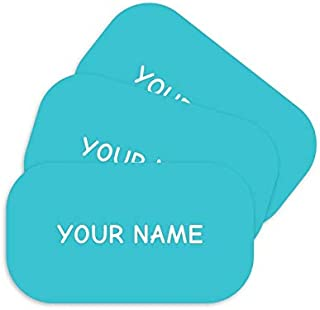 product image for Stick-N-Wear Personalized Custom Clothing Labels, No-Iron, Machine Washable, Ocean Blue (Pack of 80)