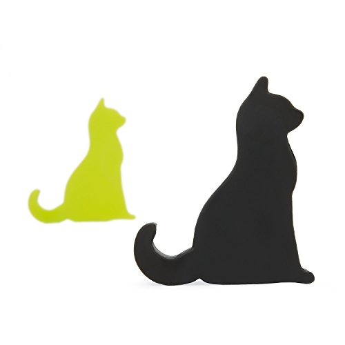 Price comparison product image Black and Green SumacLife Mini Cat Shape Cute Smartphone / Tablet Stand, Car Mount Holder for iPhone 6s Plus 6s 5s 5c, Samsung Galaxy S7 Edge Plus S6 S5 S4, Note 5 4 3, Google Nexus 5 4, LG G5