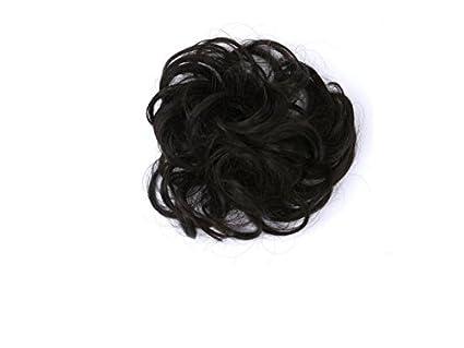 DOOUYTERT Peinado rizado cabello desordenado Bun cabello ...