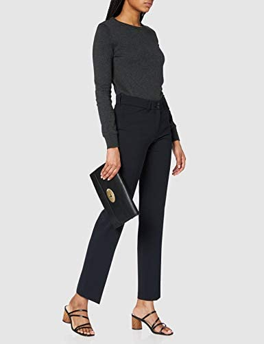 BRAX Celine Clean Wool Flatfront Feminine Fit Klassisch Pantalon, Bleu (Navy 22), 48 (Taille Fabricant: 46) Femme