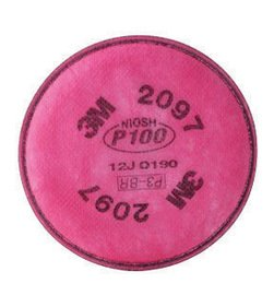 3M P100 Filter For 5000, 6000, 6500, 7000 And FF-400 Series Respirators (2 Per Package)