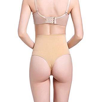 410cb29c8ce5c Uniqus New Women High Waist Trainer Tummy Slimming Control Waist Cincher  Body Shaper Thong G-String Butt Lifter Seamless Panties Color Beige Size L   ...