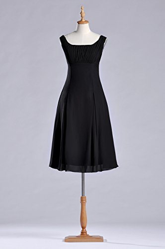 the Occasion Black Mother of Brides Special Knee Bridesmaid Dress Pleated Length Formal w7qvHA0