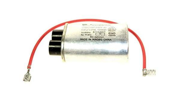 Condensador de alta tensión 0,97 Mf para microondas Miele: Amazon.es: Grandes electrodomésticos