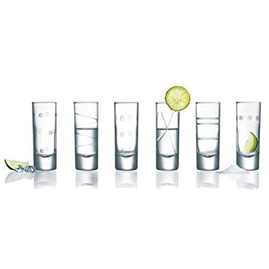 Arc International Luminarc Soho Assorted Shot Glasses, 2.25-Ounce, Set of 6
