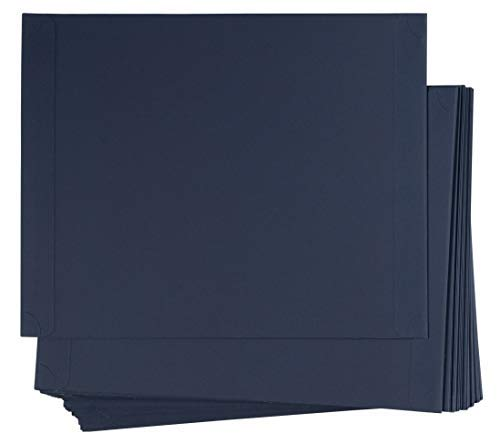 - 48-Pack Certificate Holder - Diploma Holder, Single Sided Holder for Letter-Sized Award Certificates and Documents Display, Navy Blue, 11.2 x 8.8 Inches