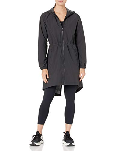 Amazon Brand - Core 10 Women's Lightweight Water-Resistant Woven Rain Trench Jacket