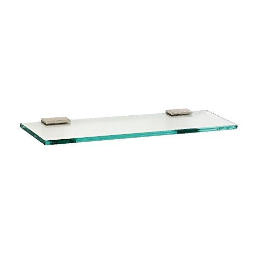 Alno A7550-18-SN Modern Arch Glass Shelf with Brackets, 18