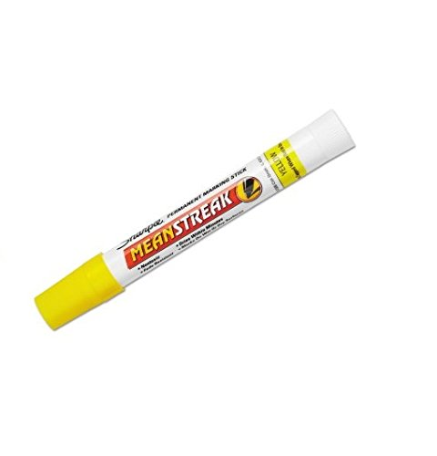 Sharpie : Mean Streak Marking Stick, Broad Tip, Yellow -:- Sold as 2 Packs of - 1 - / - Total of 2 ()