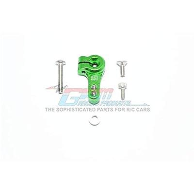 Traxxas Slash 4X4 / Slash 4X4 LCG Upgrade Parts Aluminum Adjustable 25T Servo Horn - 1Pc Set Green: Toys & Games