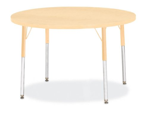 - Jonti-Craft Berries Round Activity Table Prism Maple 42
